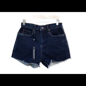 Blank NYC High Waist Raw Hem Denim Shorts NWT
